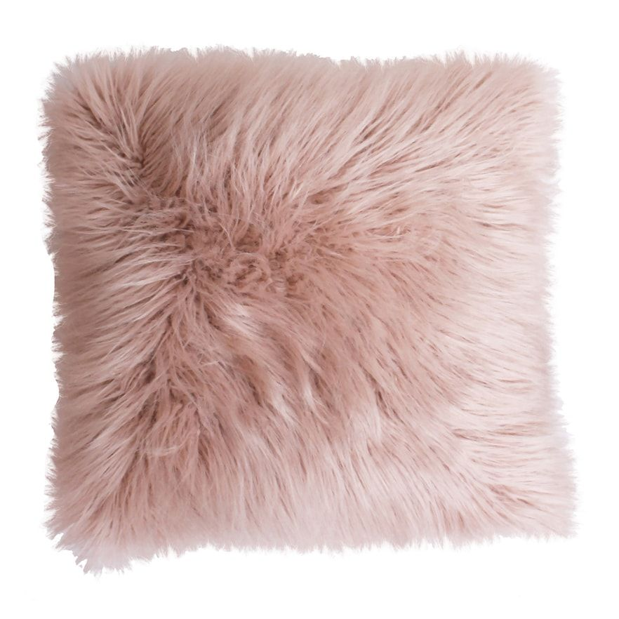 Keller Faux Mongolian Fur Throw Pillow
