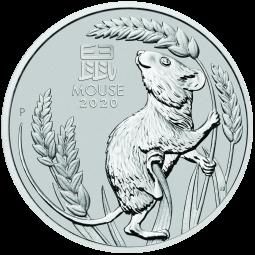 1 Unze Platin Lunar Iii Maus 2020 In 2020 Silbermunzen Platin Gold Und Silber