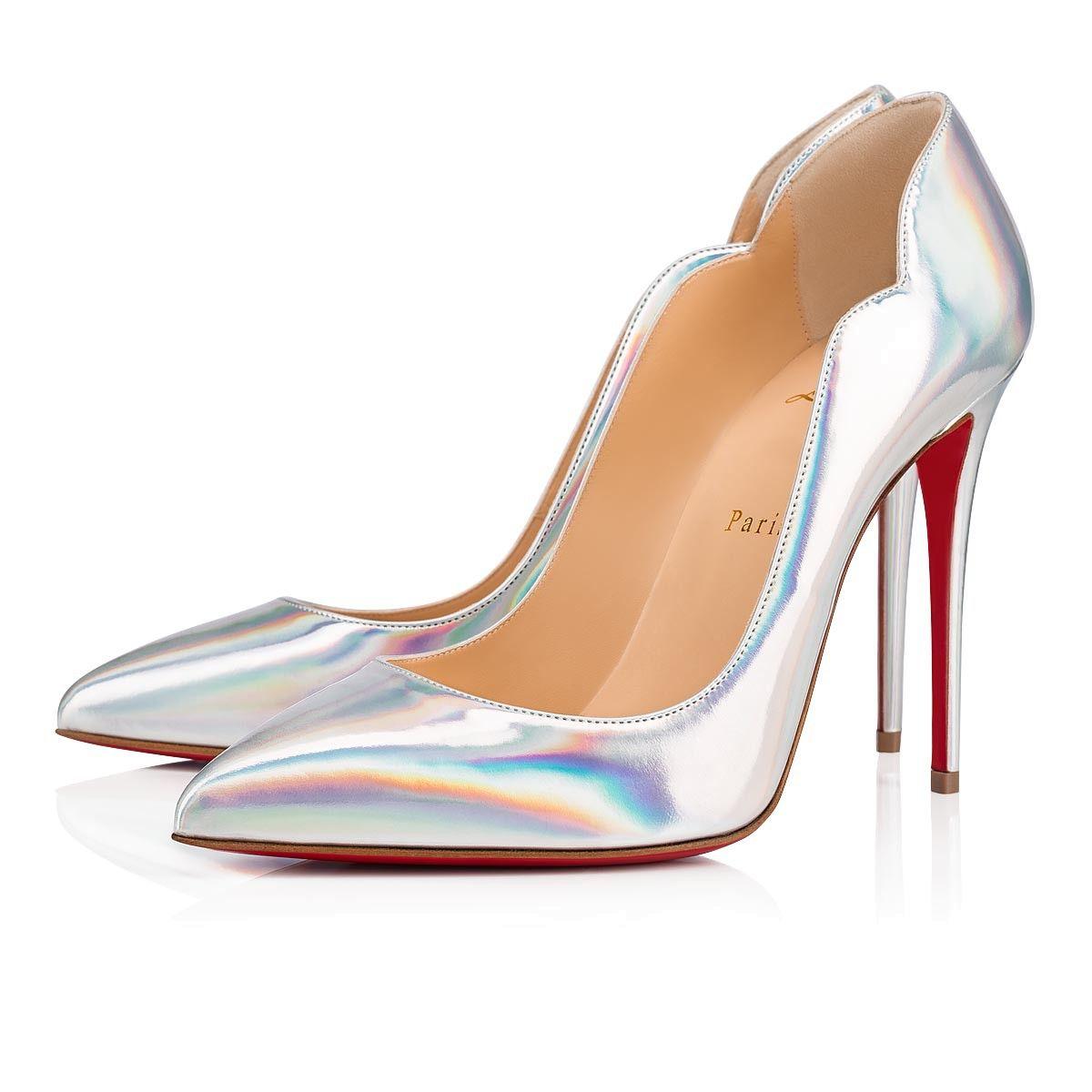 d62eef882e3 Hot Chick 100 Silver Specchio - Women Shoes - Christian Louboutin in ...