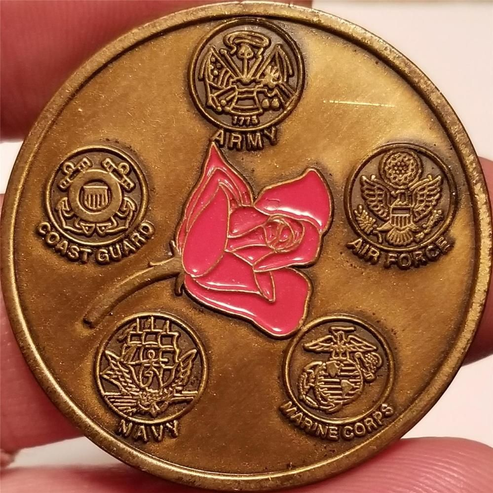 Military Challenge Coin ARMY NAVY AIR FORCE MARINES COAST