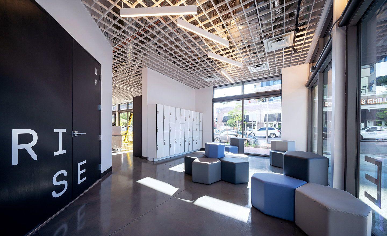 Cactus Spurs Fitness Motivation With Immersive Lighting Installation For Rise Nation Installation Design Ceiling Design Design