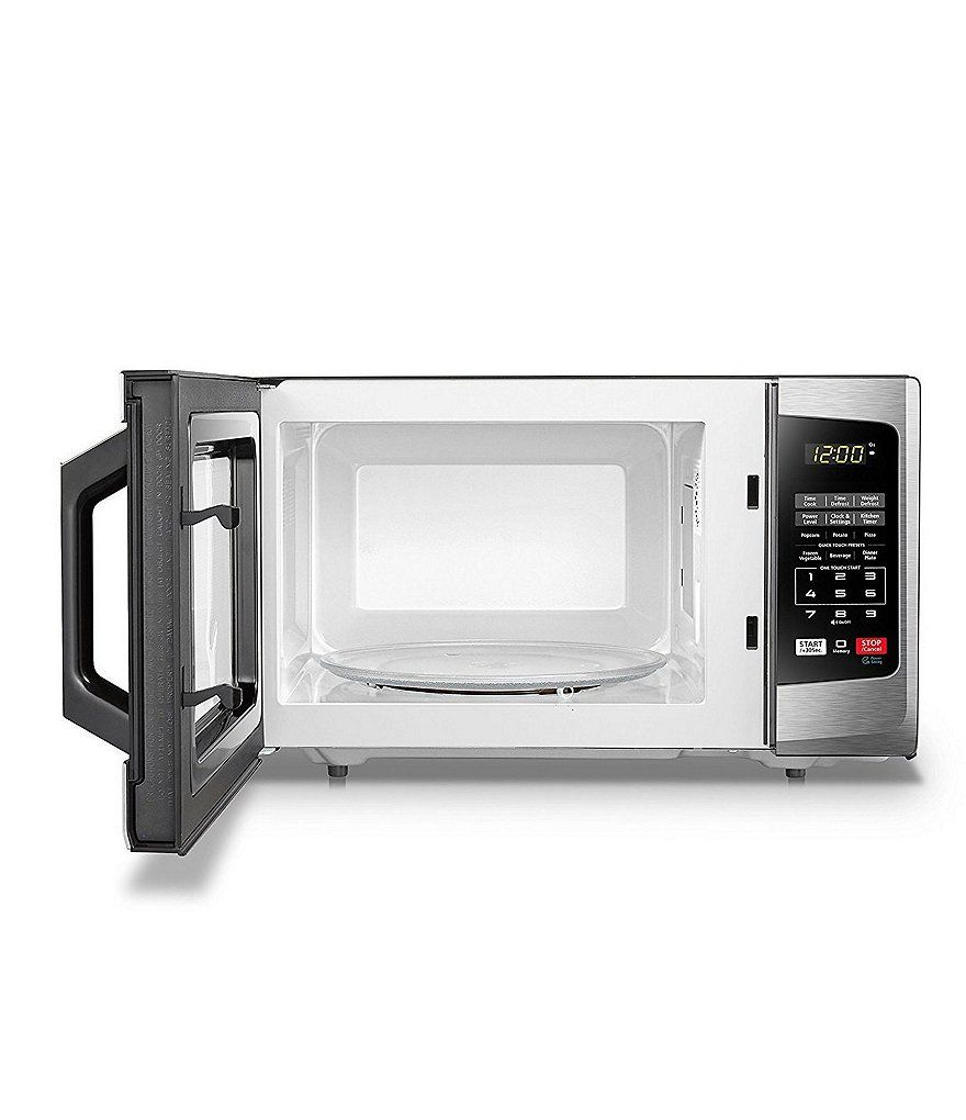 Toshiba Stainless Steel 0 9 Cubic Feet Solo Microwave Steel Toshiba Stainless Stainless Steel Microwave