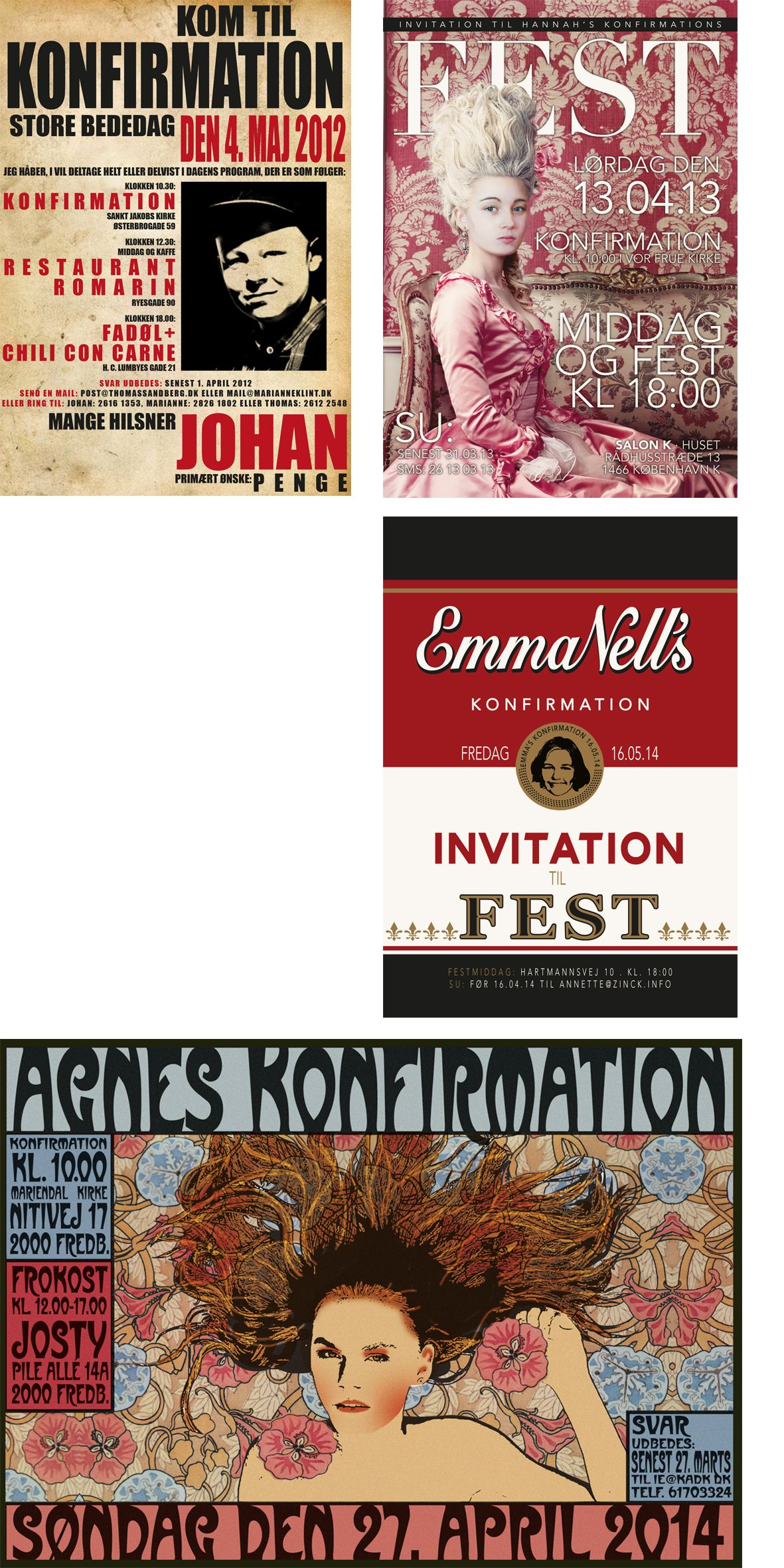 Invitationer Konfirmation Invitations Invitationer Invitation Fest