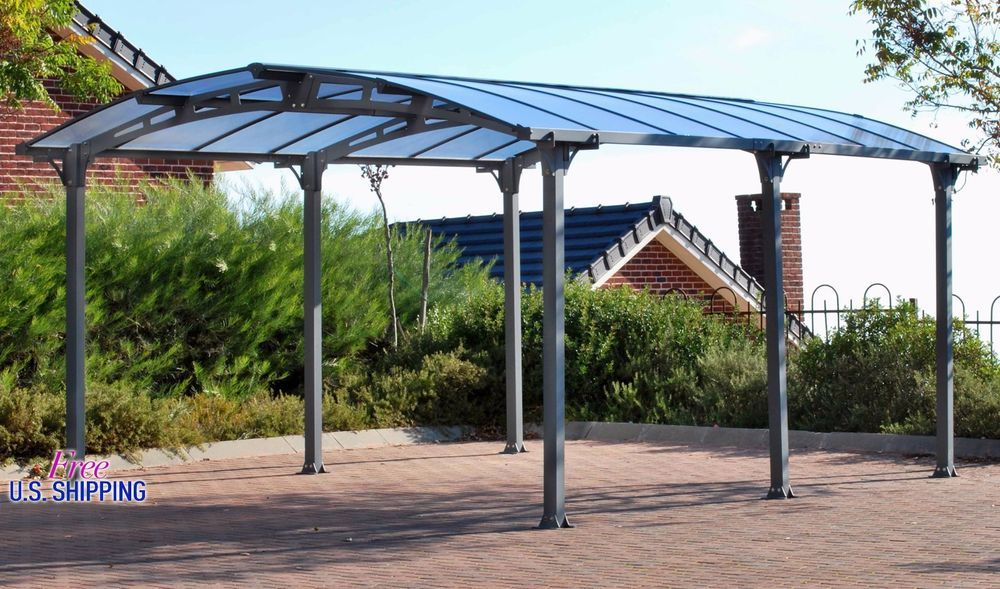 Details about Metal Canopy Carport Pergola Garage Vehicle