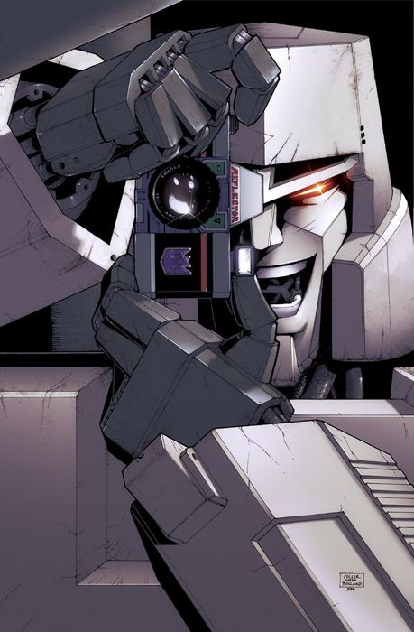 Just a drawing of Megatron imitating the cover of the Killing Joke.... Awesome