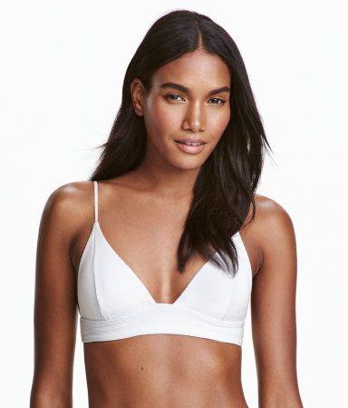 Bikini trekant-bh | Hvit | Dame | H&M NO