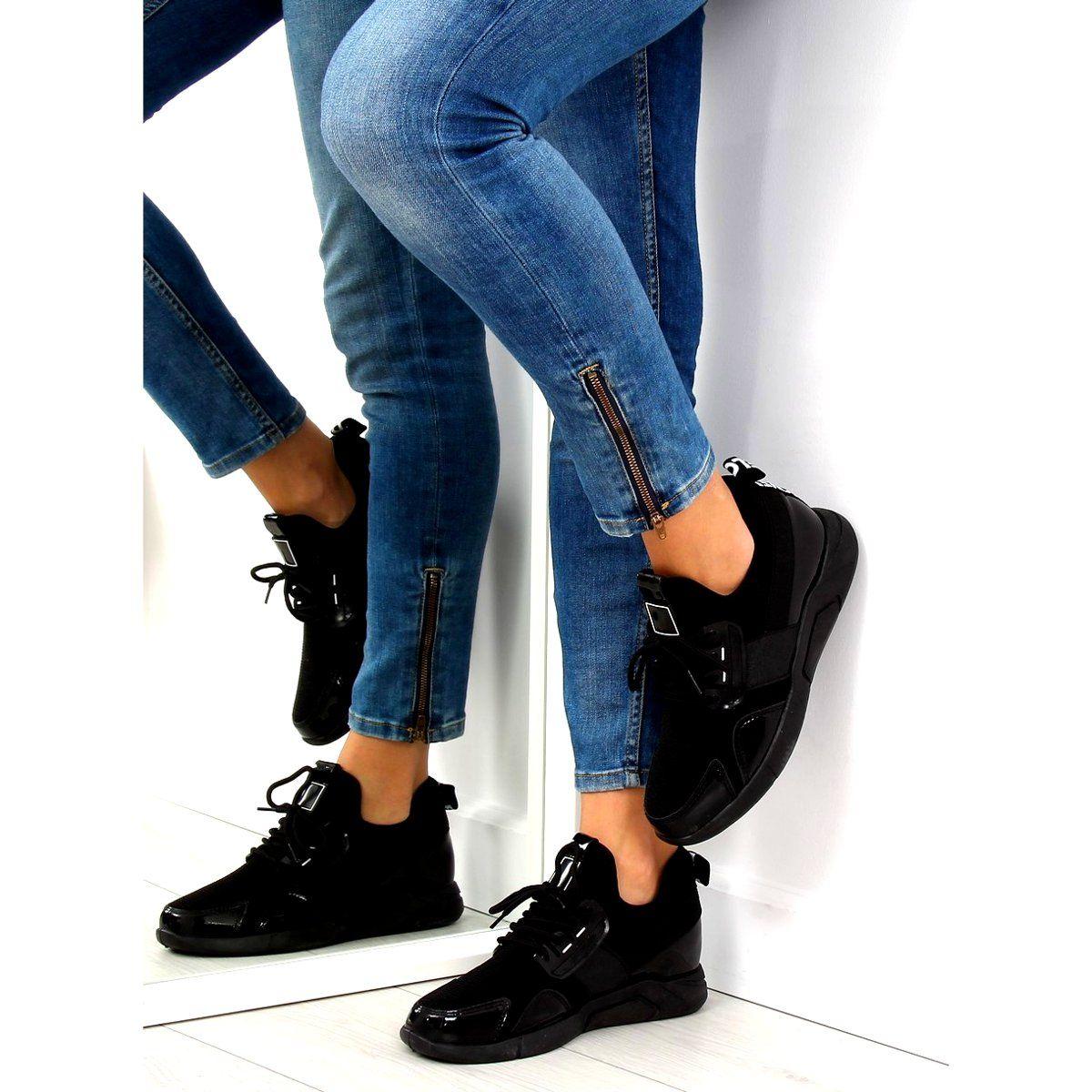 Buty Sportowe Na Koturnie Czarne Nb226p 1 Insta Fashion Fashion Fashion Addict
