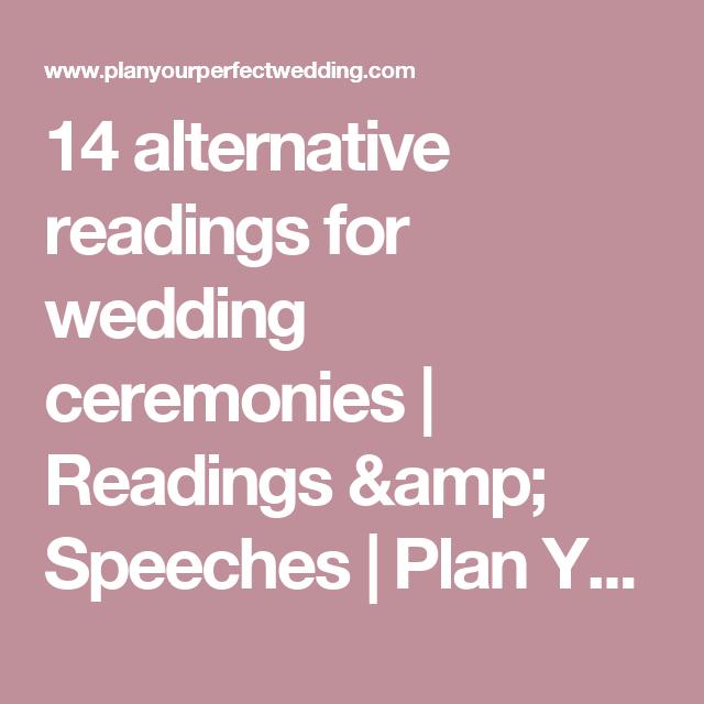 14 Alternative Readings For Wedding Ceremonies