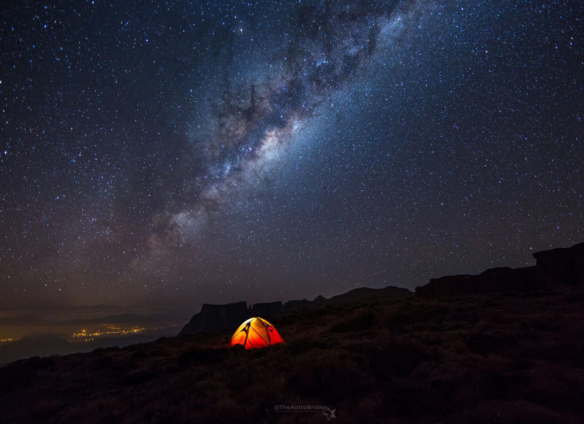 Camping Under The Milky Way Landscape Milky Way Adventure Picture