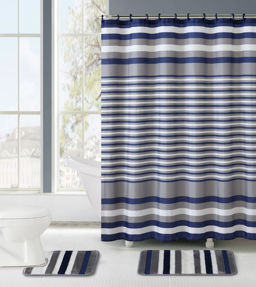 3 Piece Burlington Shower Curtain Set