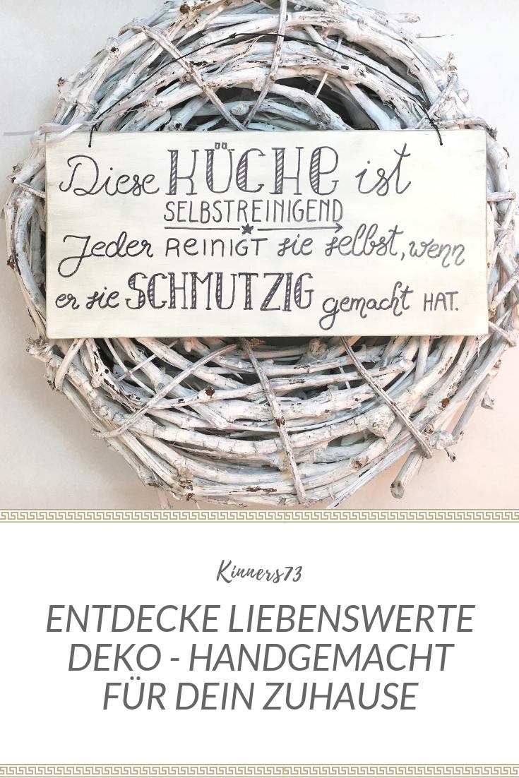 Holzschild Handbemalt Wanddeko Kuche Selbstreinigend Lustiger Text Spruchschild Geschenk Zum Einzug Einweihung Hinweisschild Shabby Wanddeko Kuche Holzschilder Geschenk Einzug