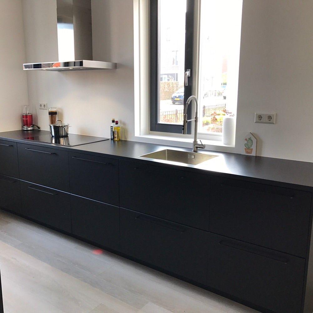 eindelijk onze nieuwe keuken kungsbacka ikeakitchen ikeakungsbacka ikeakeuken blackkitchen. Black Bedroom Furniture Sets. Home Design Ideas