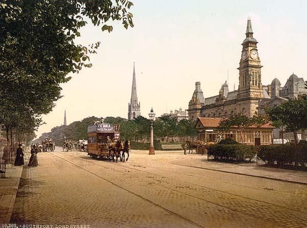 Lord Street, Southport, England between 1890 and 1900..where all the family lives!