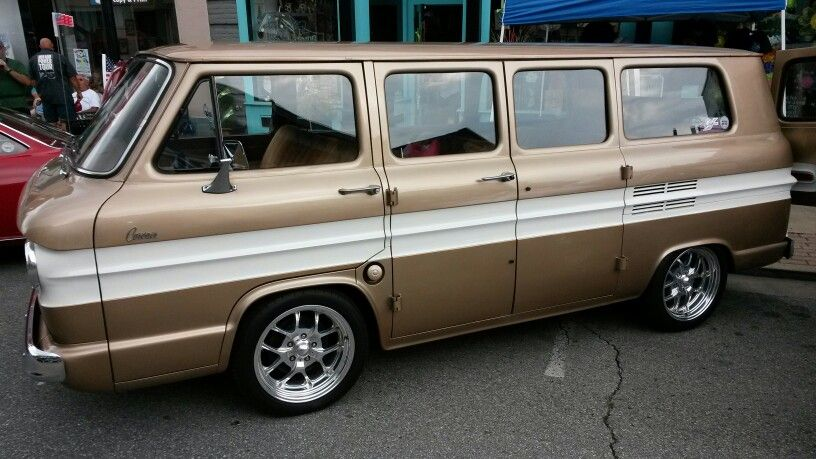 If I told you to picture a gold and white Corvair van with Centerline billets you wouldnt think it looks good but I do