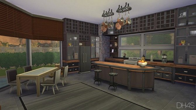 Modern classic kitchen by samuel at dh4s via sims 4 updates