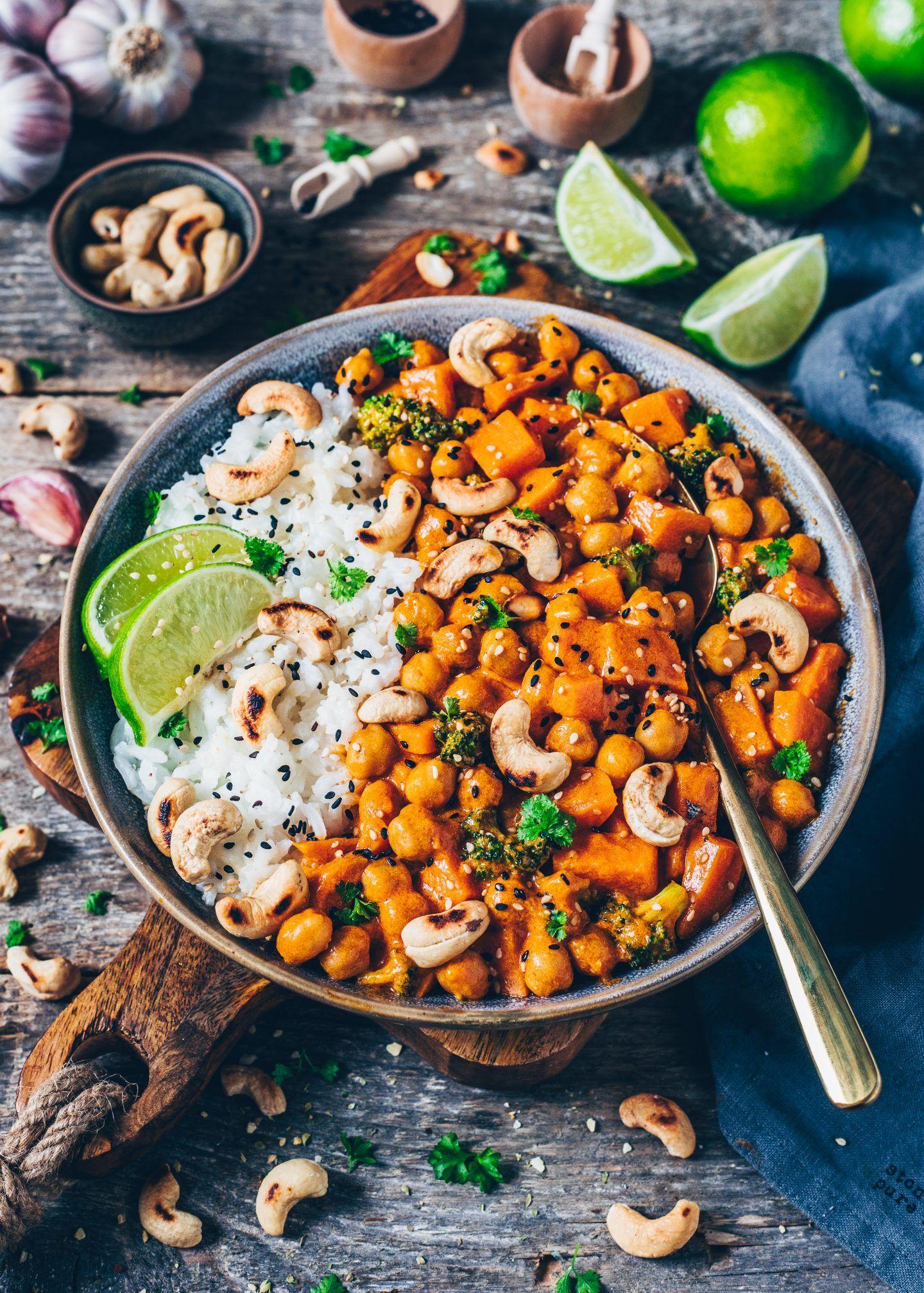 Photo of Süßkartoffel Curry mit Kichererbsen und Kokosmilch – Bianca Zapatka