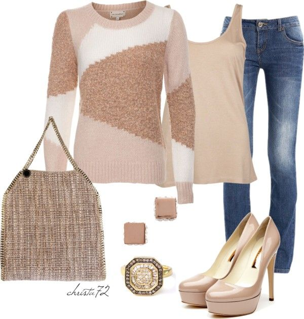 """Boucle Sweater"" by christa72 ❤ liked on Polyvore"