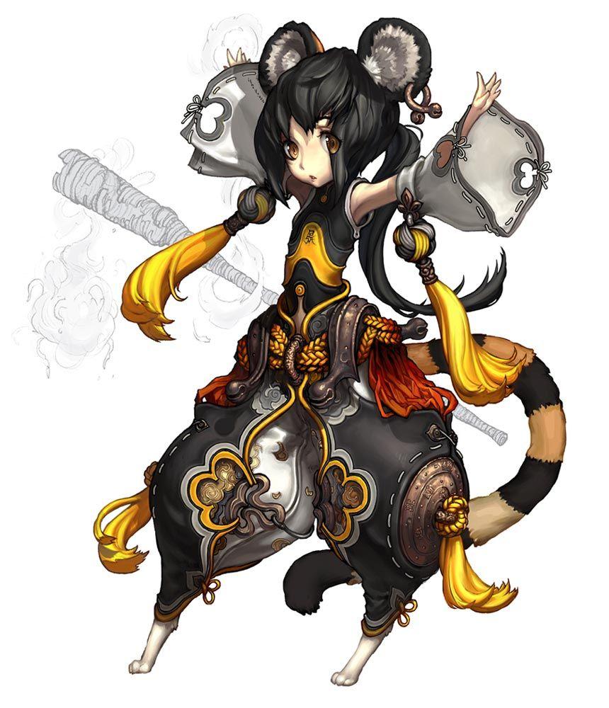 animal_ears black_hair blade_&_soul brown_eyes detached
