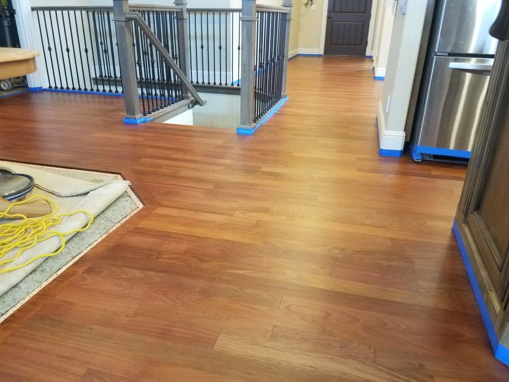 3 1/4 inch Brazilian Cherry Hardwood after a complete