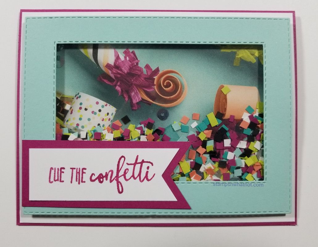 cue the confetti  cards handmade paper crafts card maker