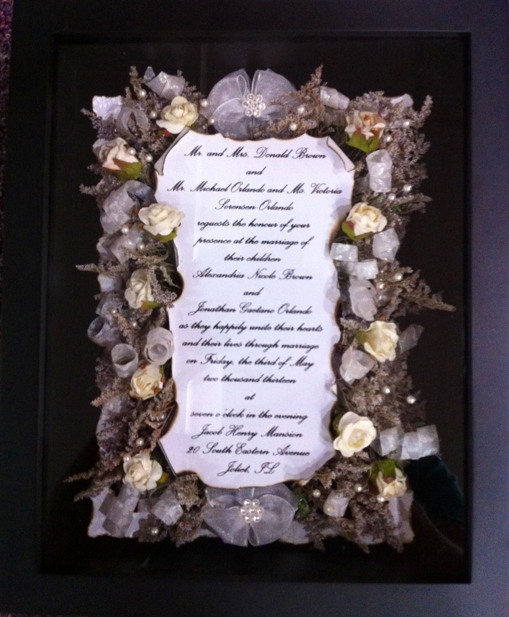 Another wedding invite keepsake | Wedding keepsake | Pinterest ...