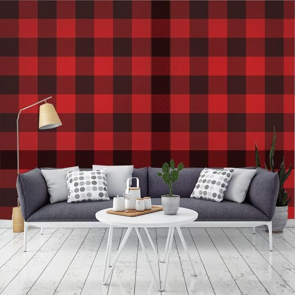 Mad About Plaid Removable Wallpaper Removable Wallpaper Wall Wallpaper Decorating Solutions