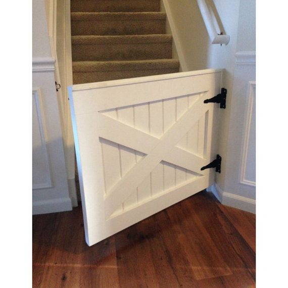 Painted X Design Barn Door Baby Dog Gate By By