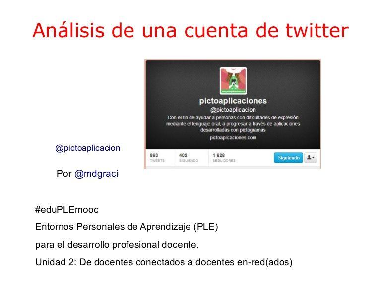 U2.analisis cuentatwitter 2 by MD Gracia Saavedra via slideshare