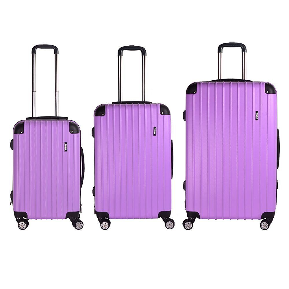 Sunydeal ABS Hard Shell Luggage Trolley Bag Case Super Lightweight ...