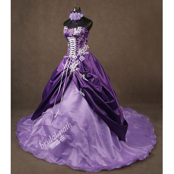 Stunning Unique Purple Wedding Dress Wedding Gown Bridal Dress