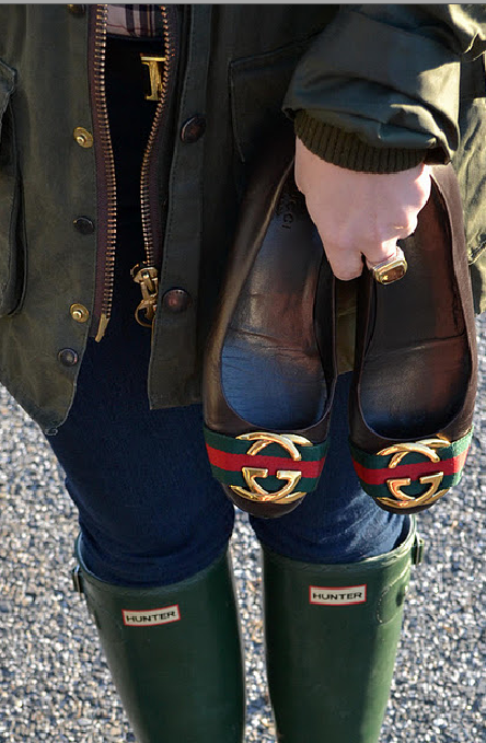 Barbour, Gucci, and Hunter. What more could you need?