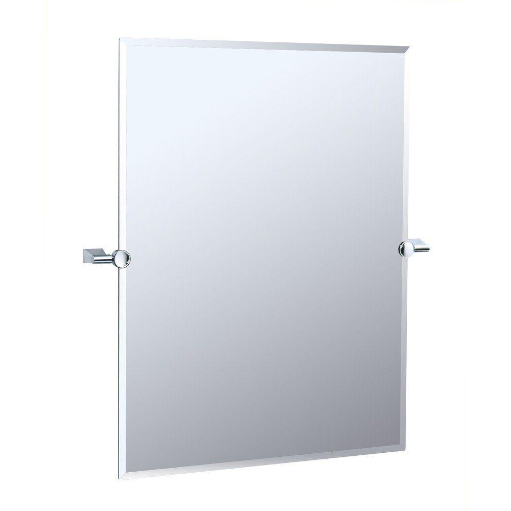Bleu Collection Wall Mount Tilting Bathroom Mirror Tilting Bathroom Mirror Gatco Mirror Wall