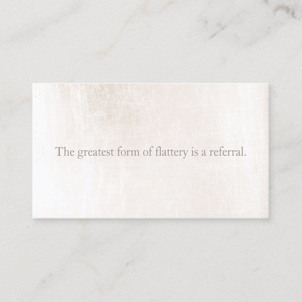 Simple White Marble Customer Loyalty Referral