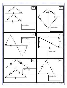 Congruent Triangles - Proving Triangles - Vocabulary, Cut/Match ...
