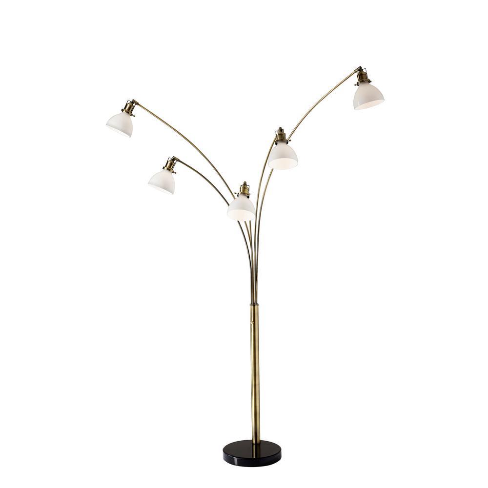 Adesso Spencer 84 In Brass Floor Lamp 3469 21 Brass Floor Lamp Lamp Arc Lamp