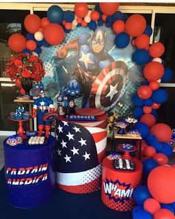 105 Lindas Ideas De Decoración Para Fiesta Del Capitán América Tematicas Para Fiestas Infantiles Fiesta De Cumpleaños Del Súperhéroe Temas Para Fiestas