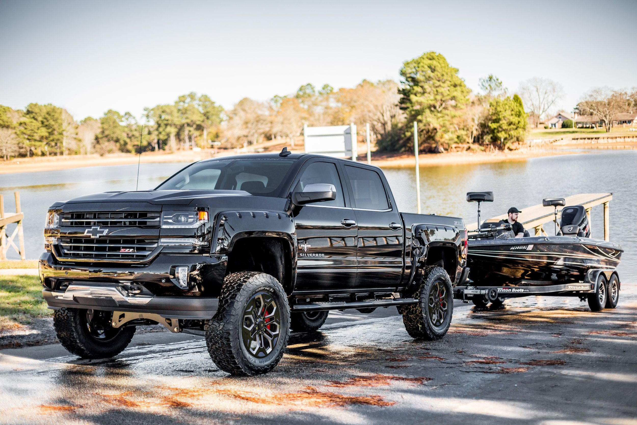 Sca Chevy Black Widow Jacked Up Trucks Gmc Trucks Lifted Trucks