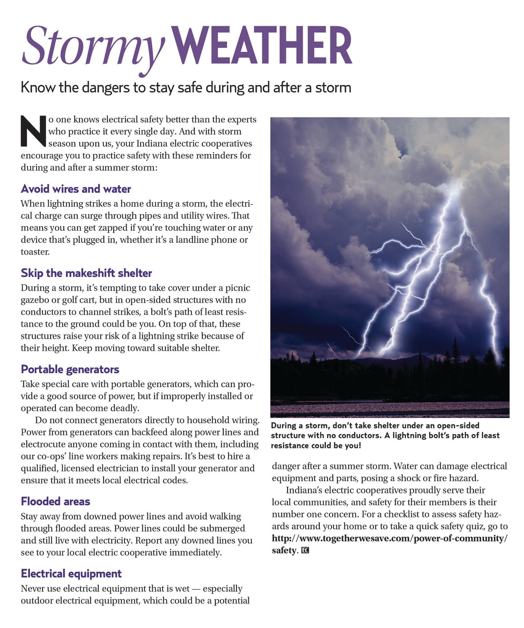 With Storms Lurking Know The Dangers To Stay Safe During And After Discuss About Home Wiring Hazards Electrical In Your A Storm