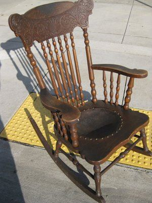 Attractive Antique Rocking Chairs | UHURU FURNITURE U0026 COLLECTIBLES: SOLD   Antique  Rocking Chair   $40
