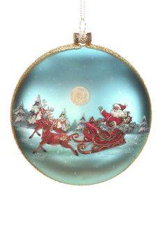Mark Roberts Santa On Sled Ornament