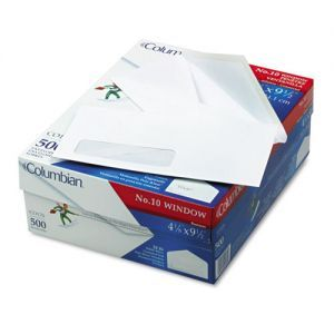 Columbian Poly Klear Single Window Envelopes 10 4 1 8 X 9 1 2 Gummed 500 Box Window Envelopes Business Envelopes Columbian