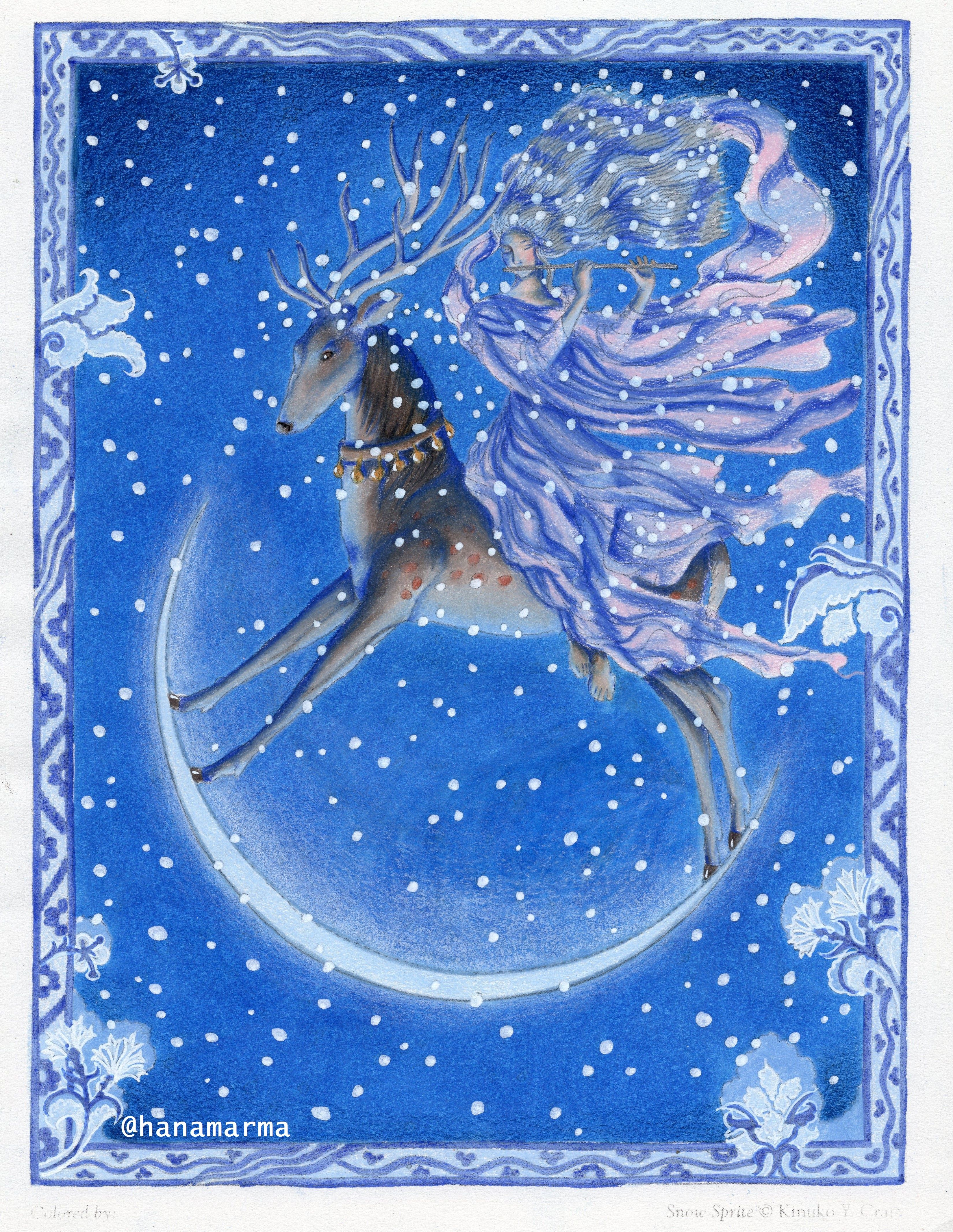 Snow Sprite from Myth and Magic Coloring Book by Kinuko Y. Craft ...