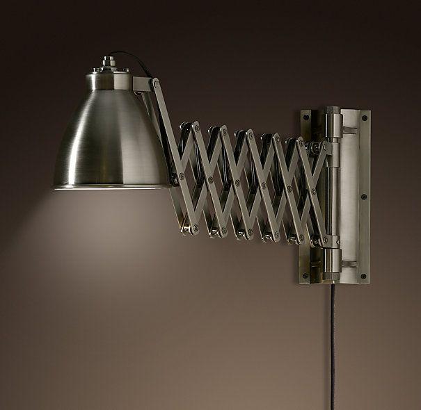 Industrial Extending Scissor Sconce $219 Final Sale $159