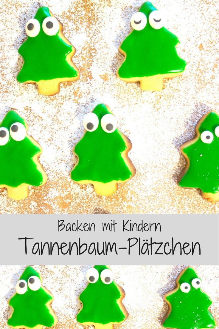 Einfache Tannenbaum Plätzchen backen mit Kindern #kekseweihnachtenkinder