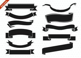 Ribbon Banner Set By Picturesofpelicans Ribbon Banner Digital Banner Bullet Journal Ribbon