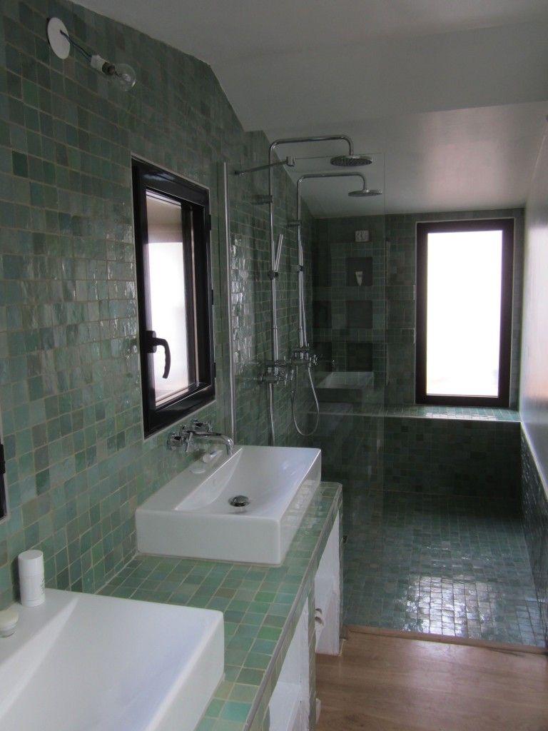Zelliges / Bejmats | Aménager petite salle de bain, Douche zellige, Deco salle de bain