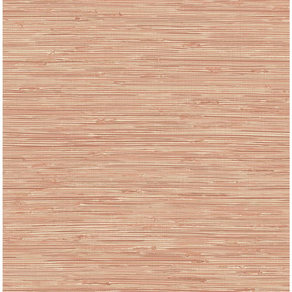 Nuwallpaper Tibetan Grasscloth Spice Pinks Vinyl Strippable Roll Covers 30 75 Sq Ft Nus3339 The Home Depot Nuwallpaper Peel And Stick Wallpaper Grasscloth