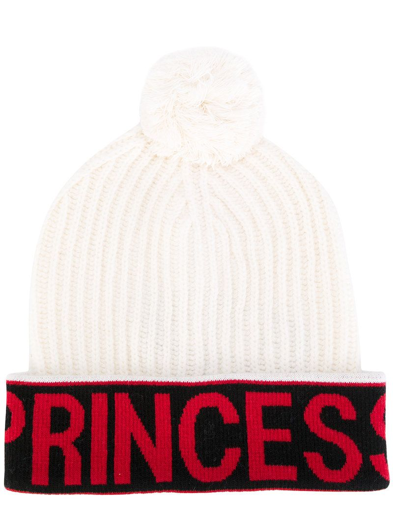 Stay warm this winter with this white Princess bobble hat from Dolce    Gabbana. Crafted from a virgin-wool blend in Italy cda593e3f5c