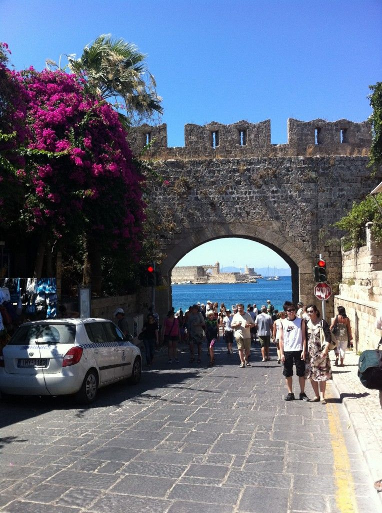 Rhodes Town - a beautiful place to visit. Loved the sponge boats down in the harbour