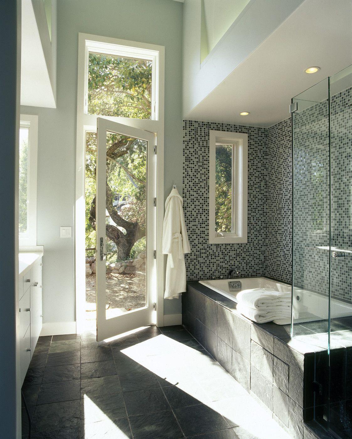 Indoor outdoor indoor outdoor bathroom photos and glass doors